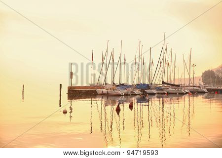 Boats At Garda Lake