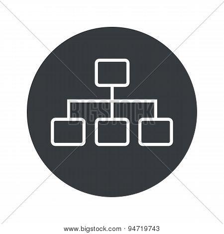 Monochrome round scheme icon