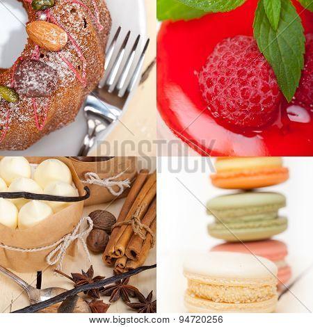 Fresh Dessert Cake Collage