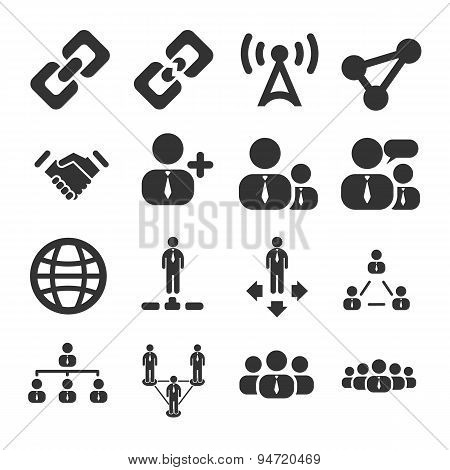 People Connection Icon Set