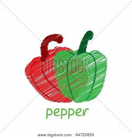 pepper vegetable design