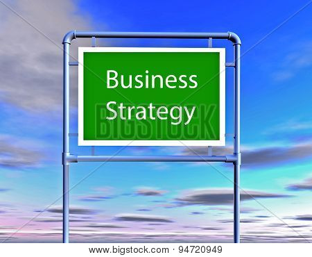 Business Strategy Illustration With Billboard