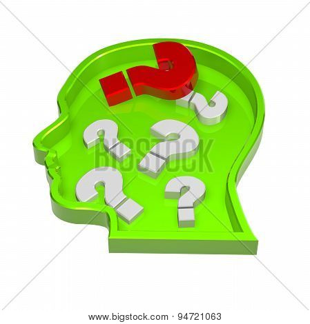 Illustration With Question Mark Abstract Concept