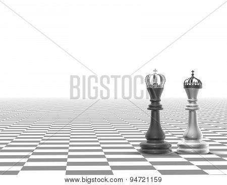 Strategy Business Concept Black And Blue Light Background