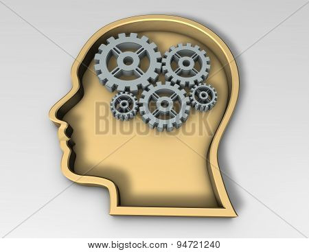 Smart Thinking Concept With Face Silhouette