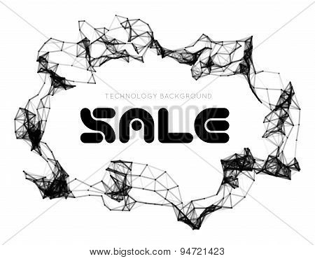 Sale triangle background