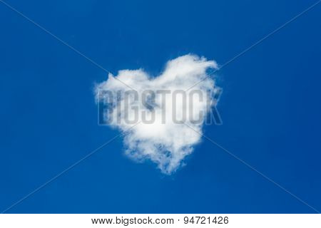 Heart Shaped Clouds In Deep Blue Sky