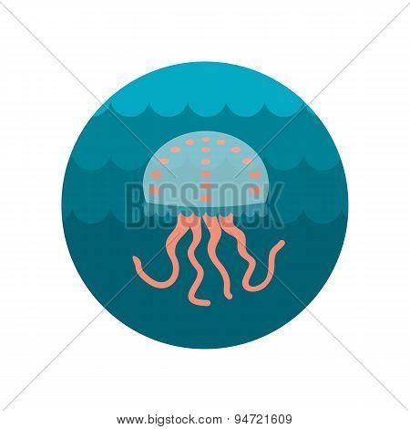 Jellyfish Flat Icon