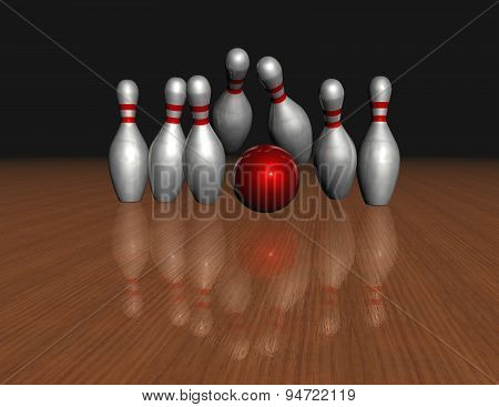 Objective, Reaching Aim, Purpose Concept With Bowling