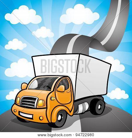 Orange truck