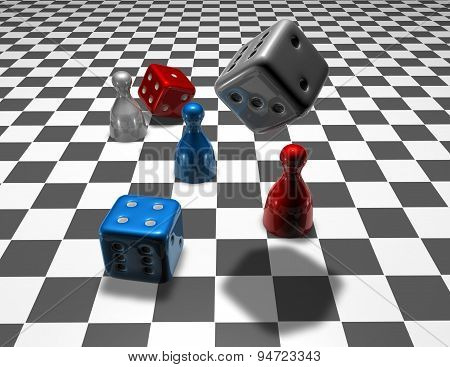 Business Strategy Concept Background With Dices