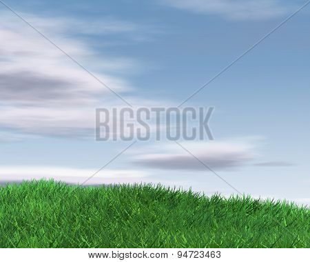 Beautiful Background Illustration With Sky And Grass