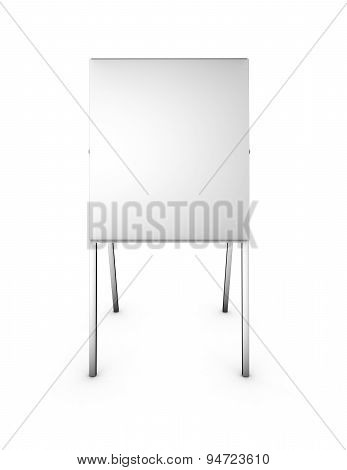 Empty 3D Menu Marketing Presentation Stand Isolated Front View