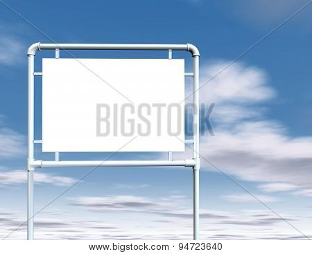 Simple Empty Road Metal Sign With Blank Space Illustration