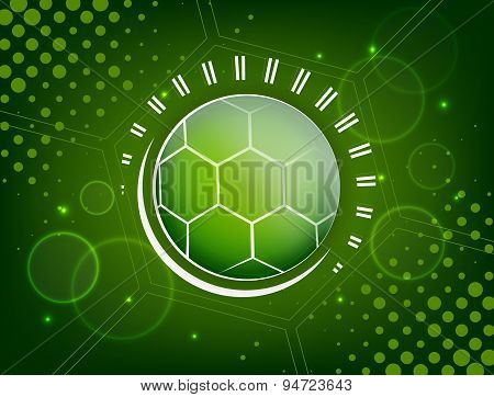 Abstract soccer design with ball