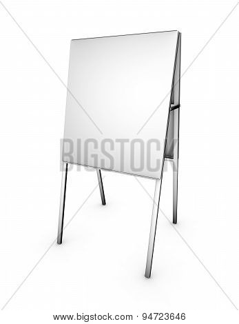 Empty 3D Menu Marketing Stand Isolated On White Background Back View