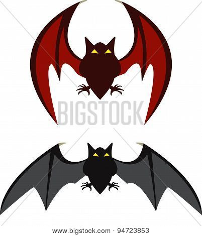 Red Bat And Black Bat