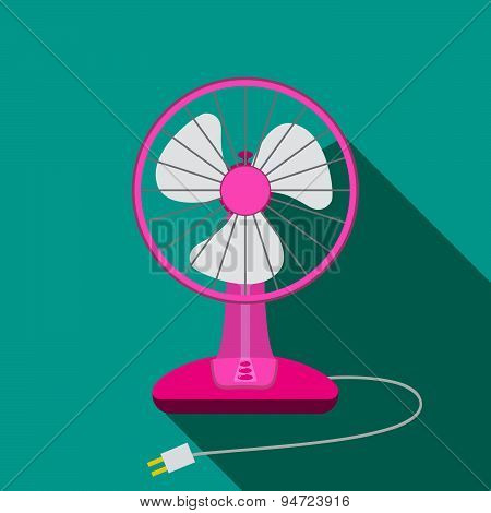 Front View Of Mini Electric Fan For Home With Button