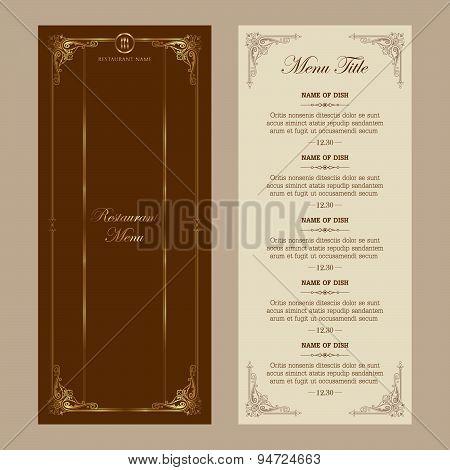 Restaurant menu - vector set