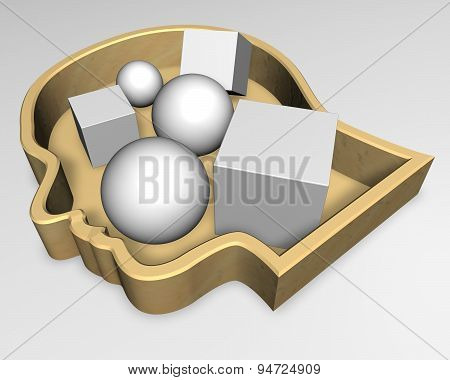 Human Thoughts And Mind Abstract 3D Idea Illustration