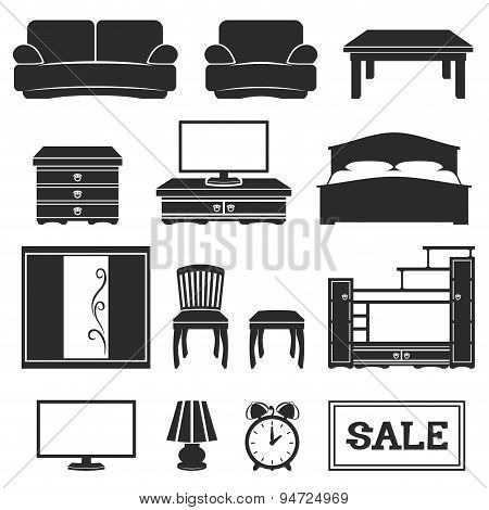Furniture icons.
