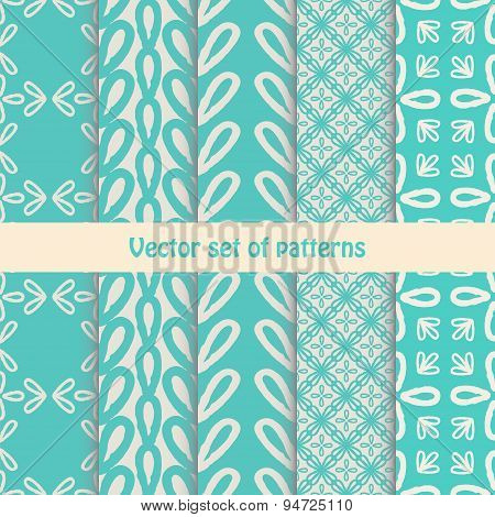 Pretty pastel vector seamless patterns .