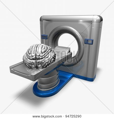 Brain And Stethoscope Machine Isolated Illustration, X-rays, Radiology, Mental Health