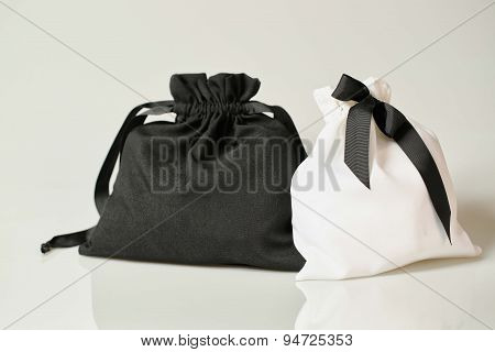 Black And White Fabric Bag
