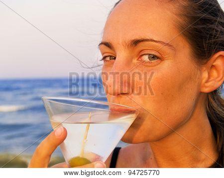 Martini On The Beach