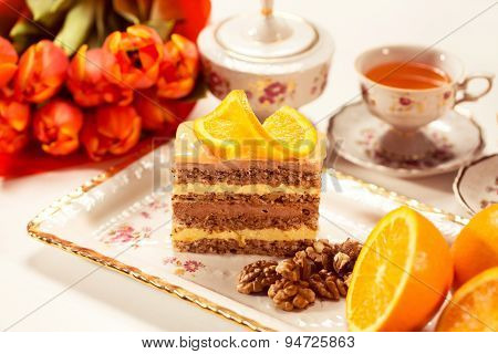 Delicious Creamy Cake With Lemon