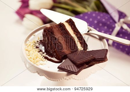 Chocolate Cake On Stand