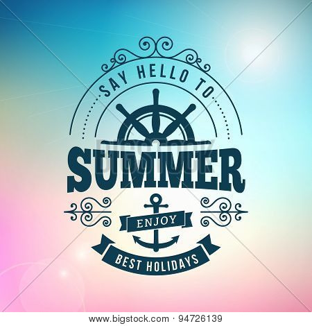 Summer Holidays Typography Poster