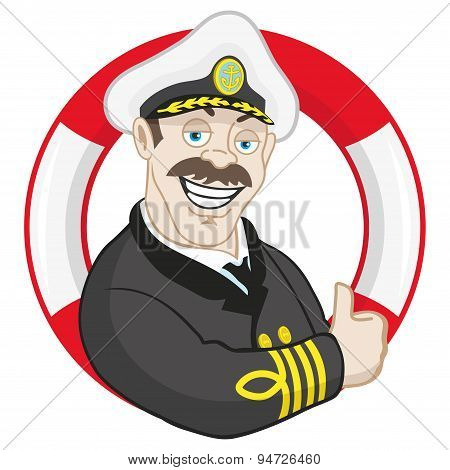 Smiling captain