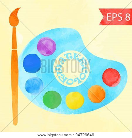 Colorful vector watercolor paint circles .