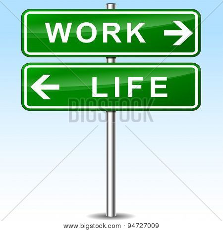 Work And Life Directions Sign