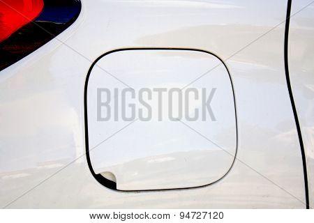 Closeup Look Of Car Fuel Tank