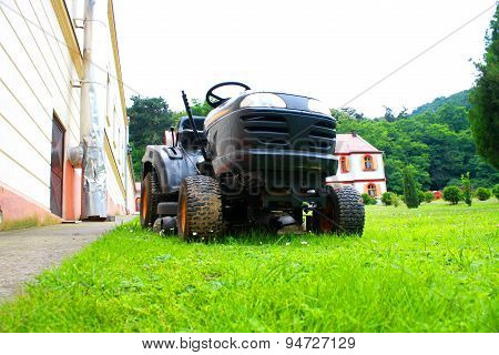 Lawn Mower On The Grass