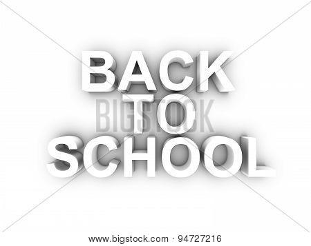 3D Render Of Back To School Word