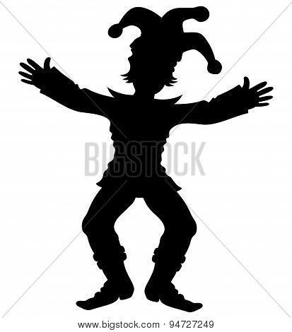 Silhouette of jester