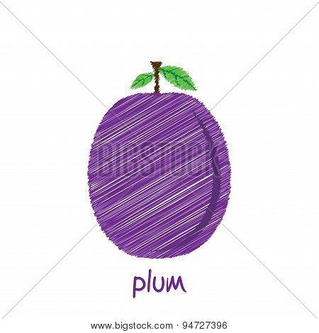 plum fruit design