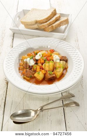 Hungarian Goulash With Beef And Sour Cream