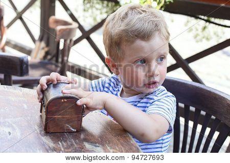 Boy Eating Dessert