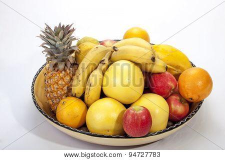 Studio Shot Of Assortment Of Fresh Fruit