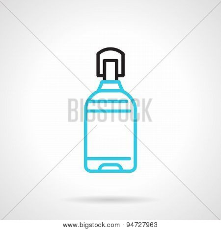 Blue line plastic bottle vector icon