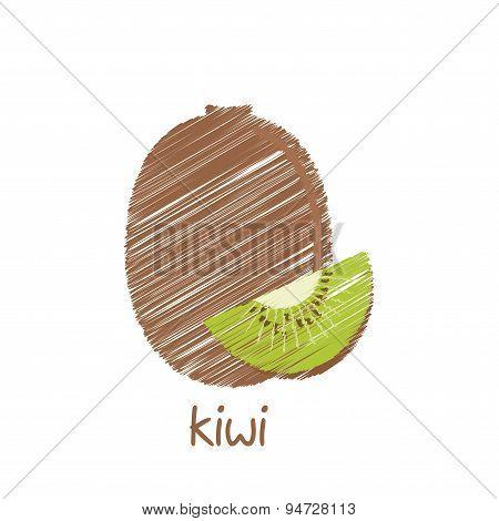 kiwi fruit, sketch design