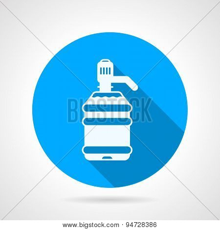 Round vector icon for white bottle