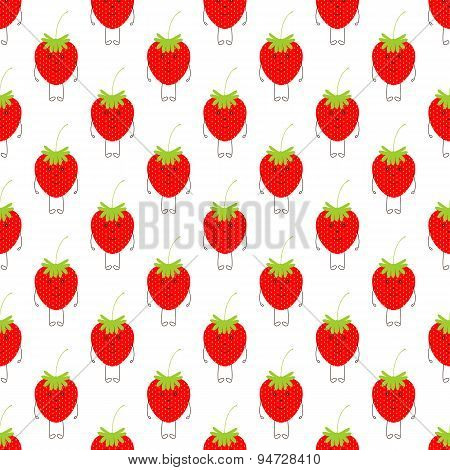 Pattern With Cute Strawberries