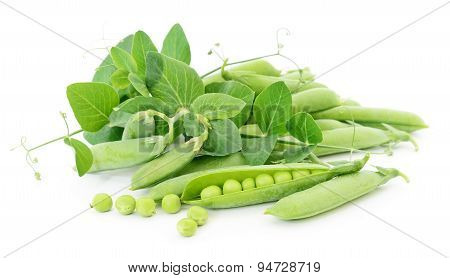 Peas With Leaves.