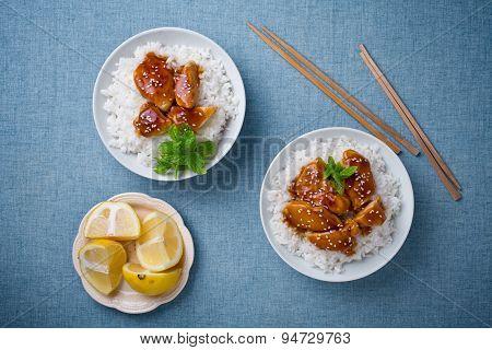 Bowls Of Thai Chicken