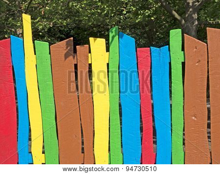 Colorful Wooden Fence